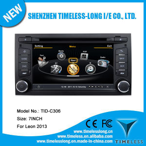 Car DVD Player for Seat Leon 2013 with Built-in GPS A8 Chipset RDS Bt 3G/WiFi DSP Radio 20 Dics Momery (TID-C306)