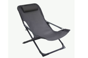 XL Plus Air Comfort Black Aluminum Sling Fabric Outdoor Folding Lounge Chairs for Deck Terrace Pool pictures & photos