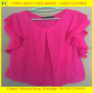 Origin Summer Clothes Second Hand/Ladies Silk Blouses pictures & photos