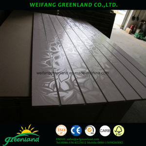 Grooved Laminated MDF 1220X2440mm Melamine Finish pictures & photos