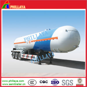 Tri-Axles 56000liters Truck Towing Tanker LPG Gas Tank Semi Trailer pictures & photos