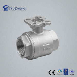 2PC Stainless Steel Ball Valve with ISO5211 Pad pictures & photos