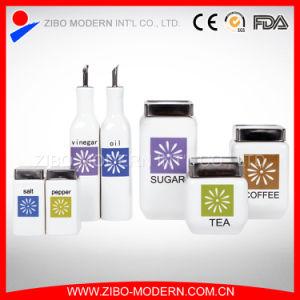 Ceramic Liquid Condiment Cruet Bottle/Ceramic White Bottle pictures & photos