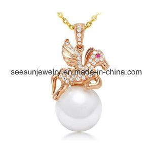 Fashion Jewelry Horse and Pearl Necklace pictures & photos