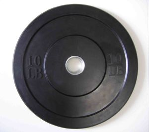 10 Lbs Bumper Plates Pair Barbell Rubber Olympic Training New Black pictures & photos