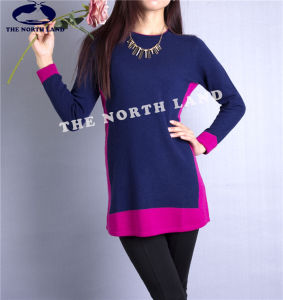 Women′s Cashmere Pullover with Intarsia Csw15082103 pictures & photos