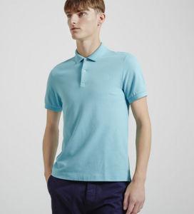 China Factory Top Quality Polo Neck Sky Blue Color Plain Men′s Polo Shirt pictures & photos