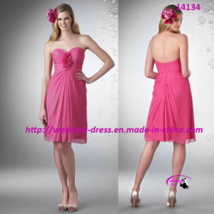 Beautiful Short Purple Bridesmaids Dress with Sweetheart pictures & photos