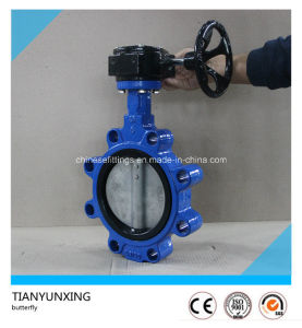 Manual Operation Handle Single Stem Lug Support Butterfly Valve pictures & photos