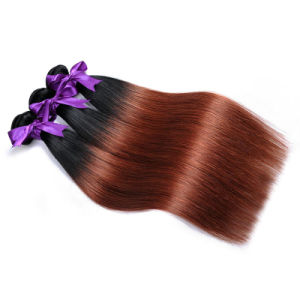 Wholesale Brazilian Virgin Hair 100% Human Hair Extensions Bundles Ombre 1b/33 18inch pictures & photos