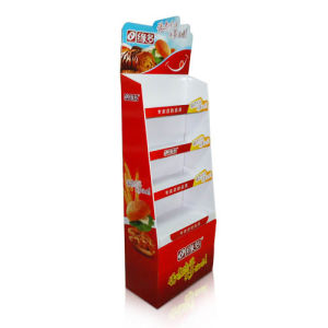 Point of Sale Cardboard Stand Display Rack for Food, Corrugated Floor Display pictures & photos