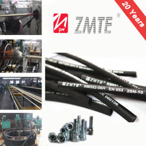SAE 100r2 2sn Wire Braid High Pressure Hydraulic Hose pictures & photos