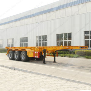 Three Axles 40FT Container Carrier Skeleton Semi Trailer pictures & photos