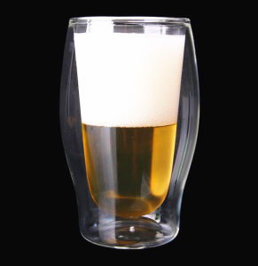 Creative Glass Beer Cup Double Wall Beer Glass 500ml Beer Cup pictures & photos