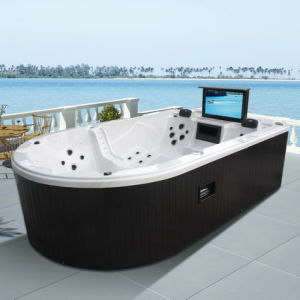 china monalisa luxury whirlpool hot tub spa jacuzzi with 32 tv m 3361 china hot tub. Black Bedroom Furniture Sets. Home Design Ideas