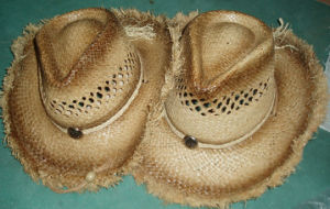 frayed edge cowboy hat pictures & photos