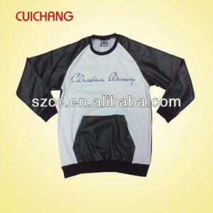 Cheap Custom Sweater with Leather Sleves pictures & photos