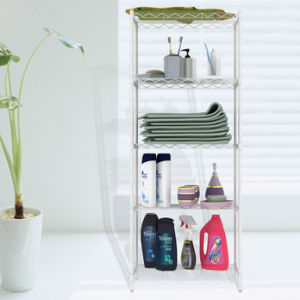 Metal Chrome Bathroom Wire Corner Shelf Rack (LD453090C4C) pictures & photos