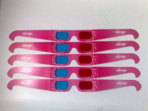 Paper Red Cyan 3D Glasses with 4 Color Printing