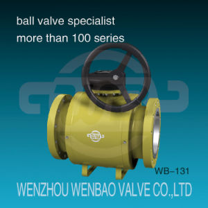 API Fully-Welded Trunnion Mounted Full Port Flanged Ball Valve pictures & photos