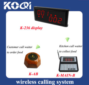 CE Approved 433.92MHz Guest Waiting System for Fast Food Restaurant pictures & photos