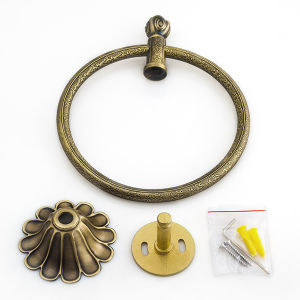 Sanitary Ware Hardware Bathroom Accessories Towel Ring in Plated Antique Brass pictures & photos