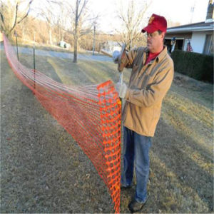Orange Plastic Snow Fence for Protection pictures & photos
