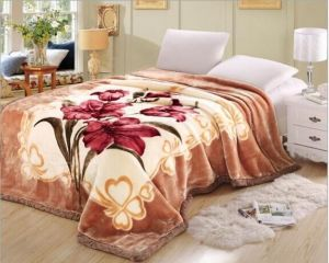 100% Polyester Double Layer Raschel Blanket pictures & photos