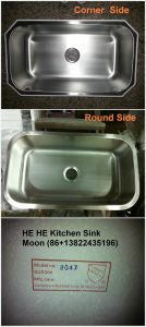Large Single Bowl Stainless Steel Undmount Kitchen Sink 8047A pictures & photos
