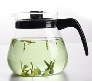 Heat Resistant Glass Tea Pot Cold Water Kettle (1000ml) pictures & photos