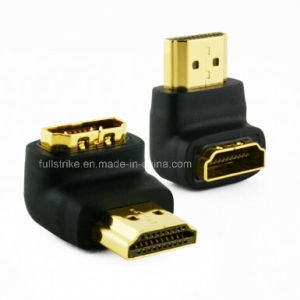Right Angle HDMI Adapter 90 Degree Male to Female