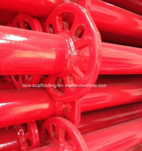 2.0m Red Powder Coated Ringlock Scaffolding Standard/Vertical Post with Spigot pictures & photos