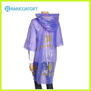 Emergency Disposable PE Women′s Raincoat pictures & photos