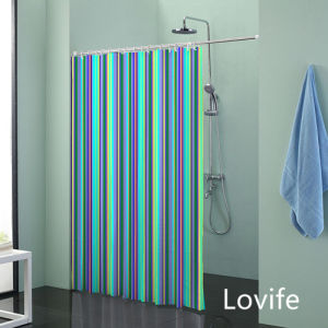 Shower Curtain Bathroom Waterproof Curtain (JG-205) pictures & photos