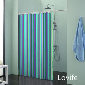 Shower Curtain Bathroom Waterproof Curtain (JG-205) pictures & photos
