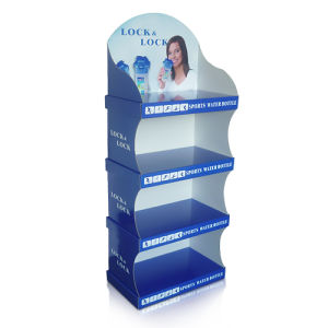 4 C Printing Standing Display Racks, POS Corrugated Display Box, Floor Display at Store for Baby Products pictures & photos
