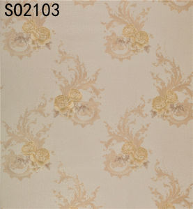 Hot Sell PVC Wallpaper (106cm*10m / 15.6m) pictures & photos
