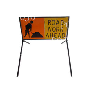 Temporary Highway Work Road Safety Boxed Edge Plate Stand Sign Pjmu-12060