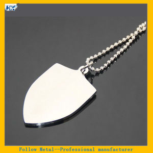 Military Shield Shape Pet Tag Stainless Steel Name Tag Silver Metal Blank Shield Designs Custom Shape Dog Tag pictures & photos
