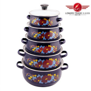 5 PCS Enamel Casserole /Enamel Pot From Longfei (675EDGB) pictures & photos