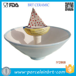 Wholesale Children Snack Ceramic Candy Boat Bowl pictures & photos