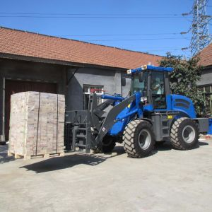 1.5tons Small Loader with Joystick and Quick Hitch pictures & photos
