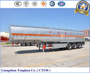 47cbm Liquid Oil Storage Stainless Steel Semi Tank Trailer pictures & photos