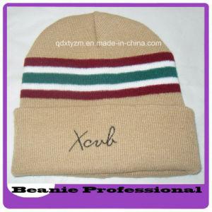 Men and Women Winter Warm Knitted Stripe Beanie Hat/Embroidey Cap