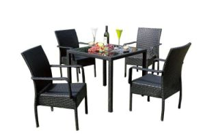 Stylish Outdoor Rattan Table and Chairs Furniture