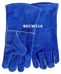 14 Inch Cow Split Leather Welding Gloves (BGCW316)