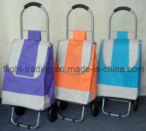 Funky Easy Storage Large Folding Lightweight Wheeled Shopping Trolley pictures & photos