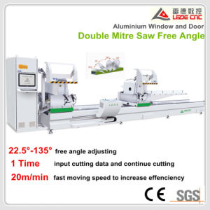 Aluminum Window Machine Window and Door Double Mitre Cutting Saw pictures & photos