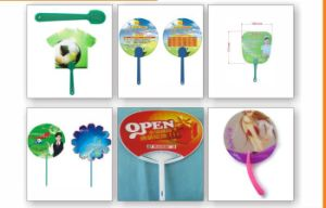 Promotional Plastic/ PP Hand Fan with Rivet pictures & photos