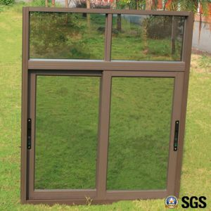 Powder Coated Aluminium Sliding Window with Fix, Latch Lock, Aluminum Sliding Window K01009 pictures & photos